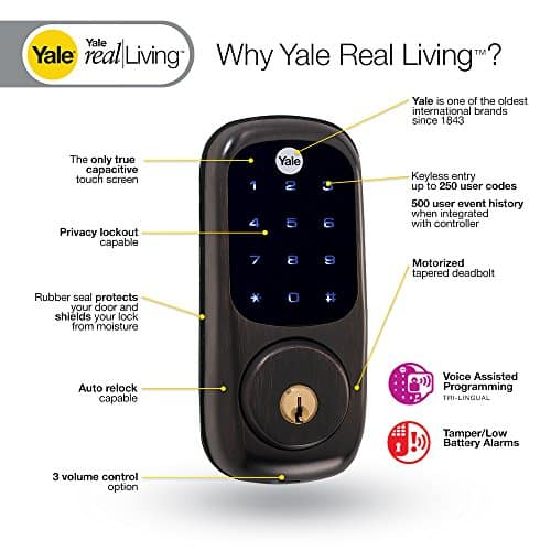 Yale-Security-YRD220-ZW0BP-Real-Living-Electronic-Touch-Screen-Deadbolt-Fully-Motorized-with-Z-Wave-Technology-Oil-Rubbed-Bronze-0-2