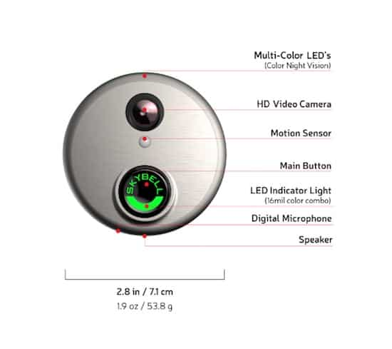 Skybell specifications