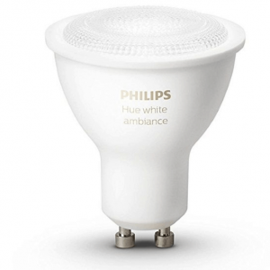 Philips HUE White Ambiance Single Bulb GU10 Dual Pack